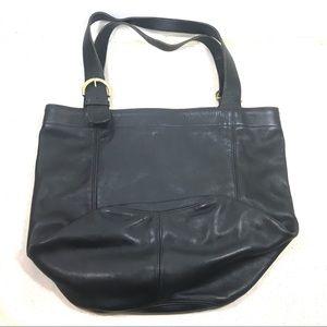 Coach X Large Black Leather Feed Bucket Bag USA